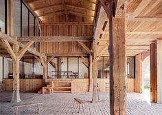 Holiday home created inside an old German cowshed.