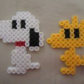 Snoopy and Woodstalk by PerlerHime
