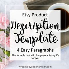 The product description template that& going to change your listing life forever.
