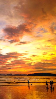 One of the most glorious and colorful sunsets I've ever seen in my life. Ao Nang, Thailand.