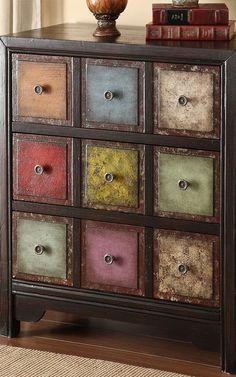 Image result for multi colored dresser
