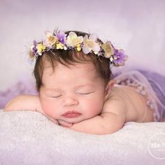 Perfect for Spring- Lavender N Yellow Cream berries floral headwreath Head halo for Newborns head wreath head halo headband Lavender : Quick Ship: RTS Lavender N Yellow Cream berries floral Monthly Baby Photos, Newborn Baby Photos, Baby Poses, Newborn Pictures, Baby Girl Newborn, Newborn Shoot, Cute Babies Photography, Newborn Photography Poses, Bebe Nature