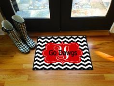 Go Dawgs Georgia Bulldogs Personalized Door Mat by LittleBitSassy
