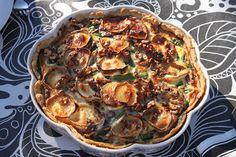 Mumsfillibaba!!!: Chevrépaj med spenat, sparris och valnötter