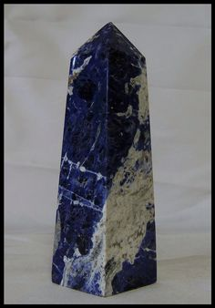 Blue Sodalite Obelisk Confidence Stone Third Eye Chakra Meditation Crystal Metaphysical Reiki Spiritual Healing by timelessdesigns07 on Etsy