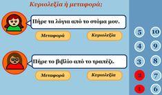 Greek Language, Greek Alphabet, Educational Technology, Grammar, Crafts For Kids, Online Games, School Ideas, Classroom Ideas, Cotton