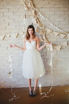 Lots of bunting & cute tulle dress by Cleo and Clementine (via @Love My Dress). Tulle dresses are so very very fun.