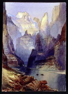 thomas moran watercolor   Thomas Moran's paintings brought home America's Wild West