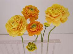 Yellow & orange ranunculus