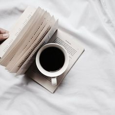 Enjoy the little things in life! A good book and even better coffee.