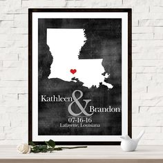 Custom Wedding Map - Wedding Guest Book Alternative - Choice of Print or Canvas