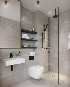 Minimalist Interior, Minimalist Decor, Modern Minimalist, Interior Modern, Modern Bathroom Design, Bathroom Interior, Interior Design Living Room, Small Bathroom, Bathroom Ideas