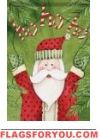 Ho Ho Santa House Flag Christmas Stockings, Christmas Tree, Christmas Ornaments, House Flags, Garden Flags, Santa, Holiday Decor, Home Decor, Teal Christmas Tree