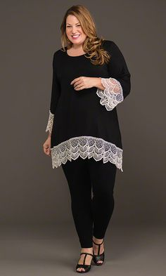 Lafayette Lace Tunic & Leggings / MiB Plus Size Fashion for Women / Fall Fashion http://www.makingitbig.com/product/4927