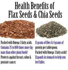 Benefits of Flaxseed and Chia Seeds
