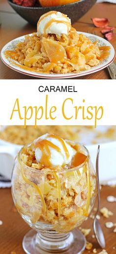Caramel Apple Crisp is the soft, versatile, easy and delicious dessert. Cinnamony fruit and crunchy oat topping makes a perfect combination.