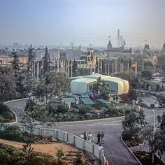 Great shot of the House of the Future at entrance to old Tomorrowland