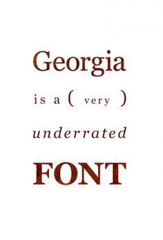 georgia typeface - Google Search