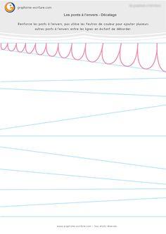 Graphisme MS Les ponts à l'envers : Lignes décalées
