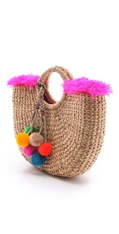JADEtribe Fringed Beach Basket Bag | SHOPBOP