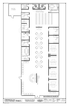Chiropractor office floorplan with therapy and massage for X ray room floor plan