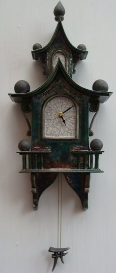 One of our favourite StoneSplitter Pottery clocks by Ian Roberts, hanging proudly on our wall!