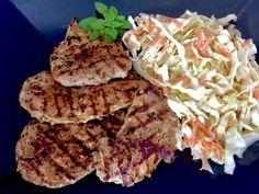 Grillowane polędwiczki - Blog z apetytem Coleslaw, Mozzarella, Steak, Cabbage, Grilling, Pork, Herbs, Vegetables, Cooking