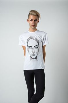 Click here to shop @@bypoststreet The Brows t-shirt featuring Cara Delevingne  http://by-post-street.myshopify.com/collections/collection-3/the-brows