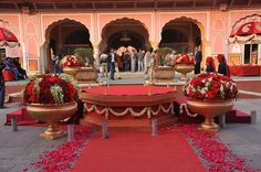 A beautiful palace in Jaipur-Ready for the D day #shloka