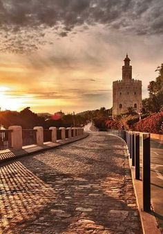 Torre del Oro in Seville - Andalusia, Spain Landscape Photography, Nature Photography, Seville Spain, Andalusia Spain, South Of Spain, Spain And Portugal, Most Beautiful Cities, Where To Go, Countryside