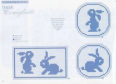 Moduli filet Filet Crochet, Crochet Stitches, Knit Crochet, Mini Cross Stitch, Cross Stitch Animals, Plastic Canvas Ornaments, Easter Cross, Charts And Graphs, Easter Crochet