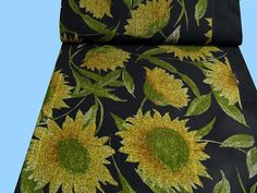 Schwerer   WOLLSTOFF   Sonnenblumen (508487)  2.WAHL!... von STOFFLISI auf Etsy