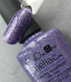 cnd shellac alluring amethyst from the starstruck collection close up picture by fee wallace