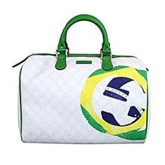 Gucci Beige Coated Canvas Joy Boston Satchel Bag 195451 In Brazilian Flag Gucci Handbags Outlet, Miu Miu Handbags, New Handbags, Leather Handbags, Gucci Coat, Gucci Tote Bag, Satchel Bag, Gucci Gucci, Gucci Bags