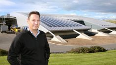 Yealands Wine Group chief operating officer Michael Wentworth in front of the solar panel installation at the company's ...