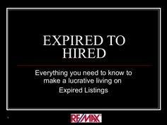 Expired to Hired by Stacey Alcorn via slideshare