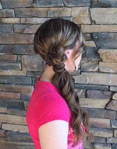 formal side ponytail hairstyle