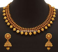 70gms Pure Gold Necklace #MalabarGoldJewellery #GoldJewelleryNecklace