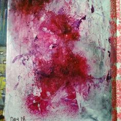 Abstract Flowers with Colour Blast and Liquitex ink. By Wendy Patterson.