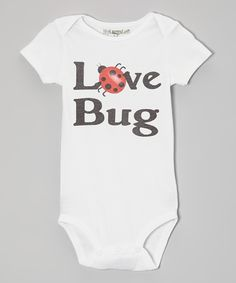 Take a look at this MyLucysLoft White 'Love Bug' Bodysuit - Infant on zulily today!