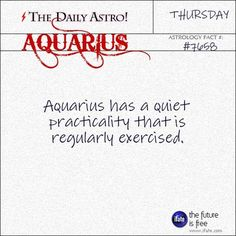 The Daily Astro! // Aquarius