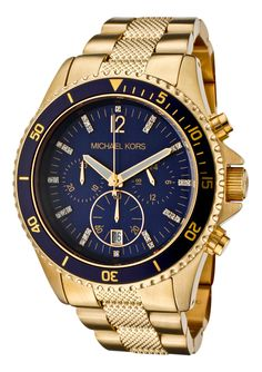 Navy and Gold Michael Kors Watch love