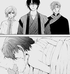 Akatsuki no Yona / Yona of the dawn anime and manga || Yona, Hak, Kija, and Jaeha