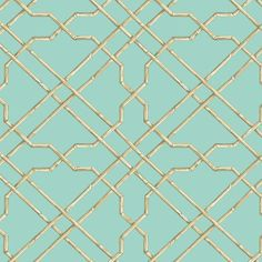 Bamboo Trellis Wallpaper York Wallcoverings Wallpaper York Wallcoverings Beiges Blues Bamboo Wallpaper Trellis & Quatrefoil Wallpaper Tropical Wallpaper, Sure Strip, Easy to clean , Easy to wash, Easy to strip