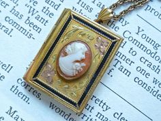 Vintage Carved Shell Cameo 12k Gold Filled by VintagePoetlandia, on Etsy