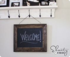 {Knockoff Decor} Easy DIY Framed Chalkboard... my dad could do this for me :)