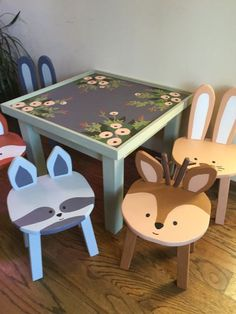Hand-crafted, hand-painted wooden animal stool for your childs Woodland or Forest Friend themed nursery or playroom. This listing is for one raccoon stool as pictured in the first photo. Woodland Animal Nursery, Woodland Nursery Decor, Baby Girl Nursery Decor, Nursery Themes, Themed Nursery, Baby Design, Wooden Animals, Playroom Decor, Kids Furniture