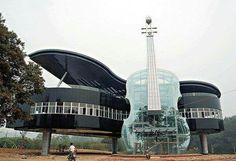 Huainan China lugar de estudio y ensayo para los estudiantes de música de la universidad local.