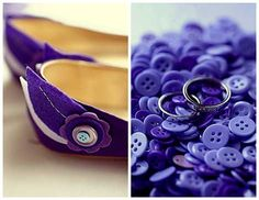 the funky way to use purple as your wedding color
