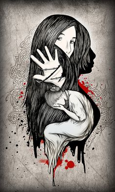 Art for domestic violence awareness.